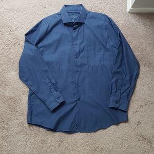 Joseph Abboud indigo blue mens Dress shirt